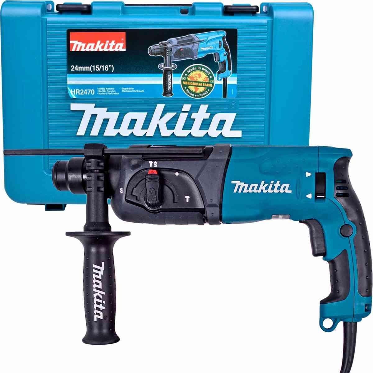 Martelete Perfurador Rompedor 800W Com Maleta Makita - 127V