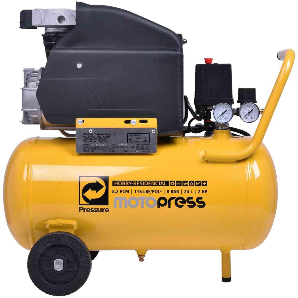 Moto Compressor De Ar 8 Pcm 24L Hobby Motopress Pressure 220V