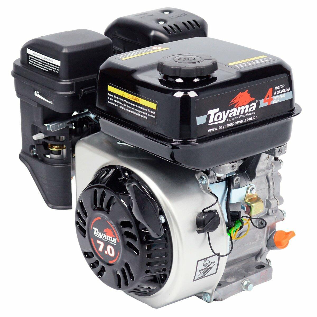 Motor Com Rabeta Fixa para Popa de Barcos 1,70M 7HP Toyama