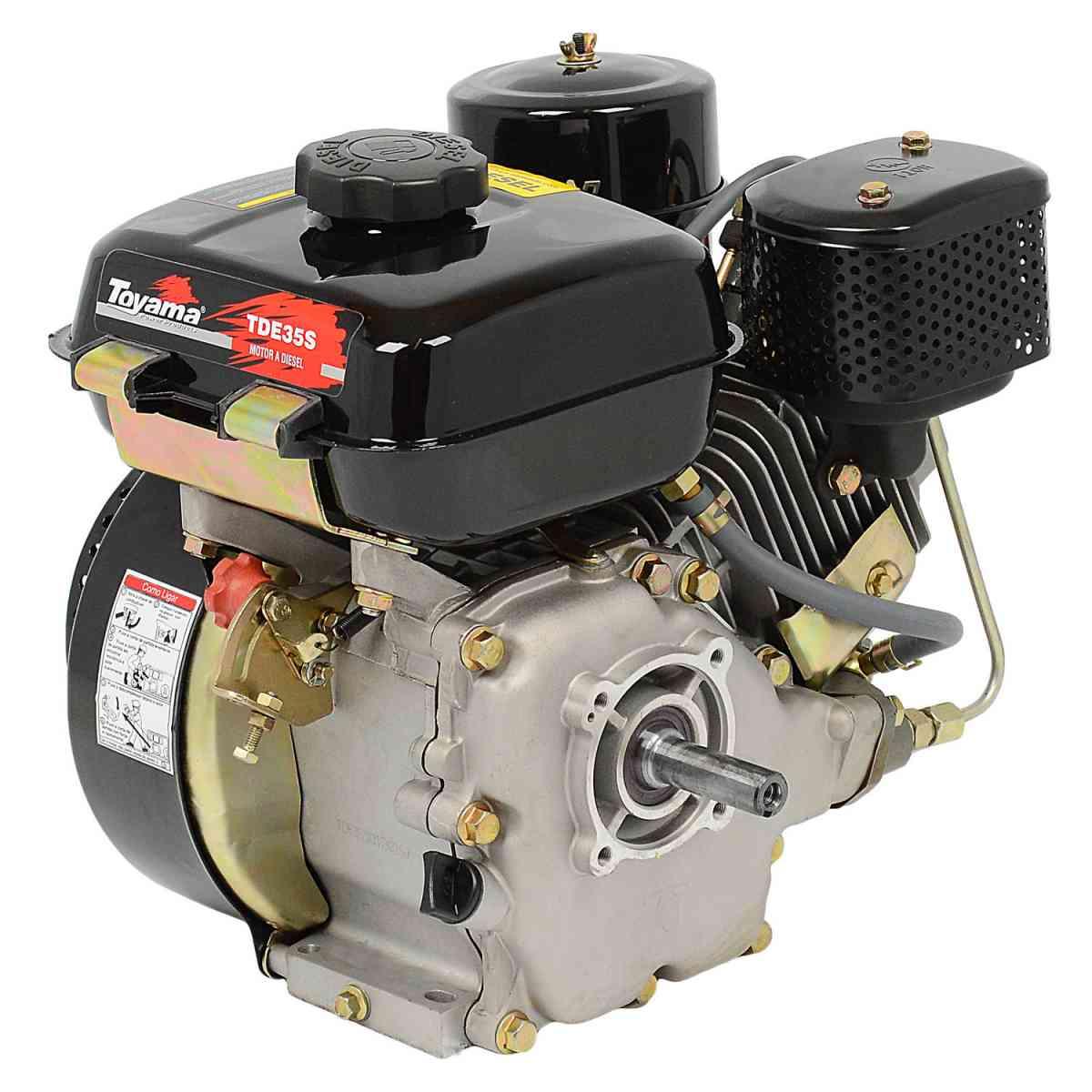 Motor de Barco Tipo Rabeta 2,20M 3,3 Hp A Diesel Toyama