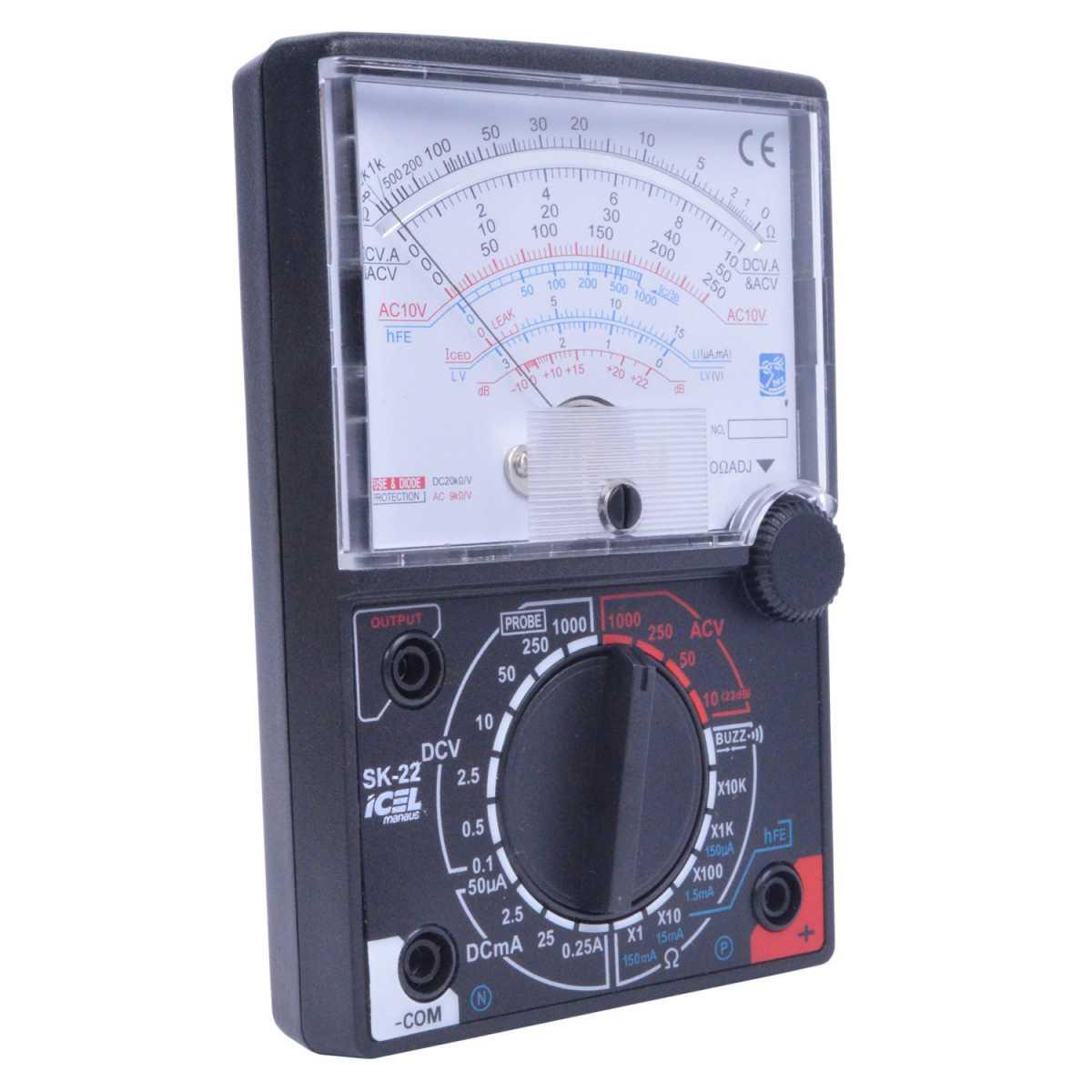 Multímetro Analógico Ac/dc Sk-22 Icel