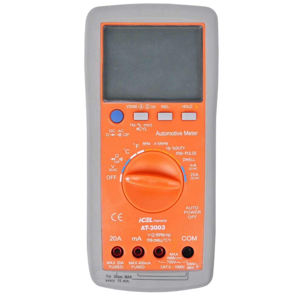Multímetro Automotivo Digital Ac/dc At-3003 Icel - 20 Amperes