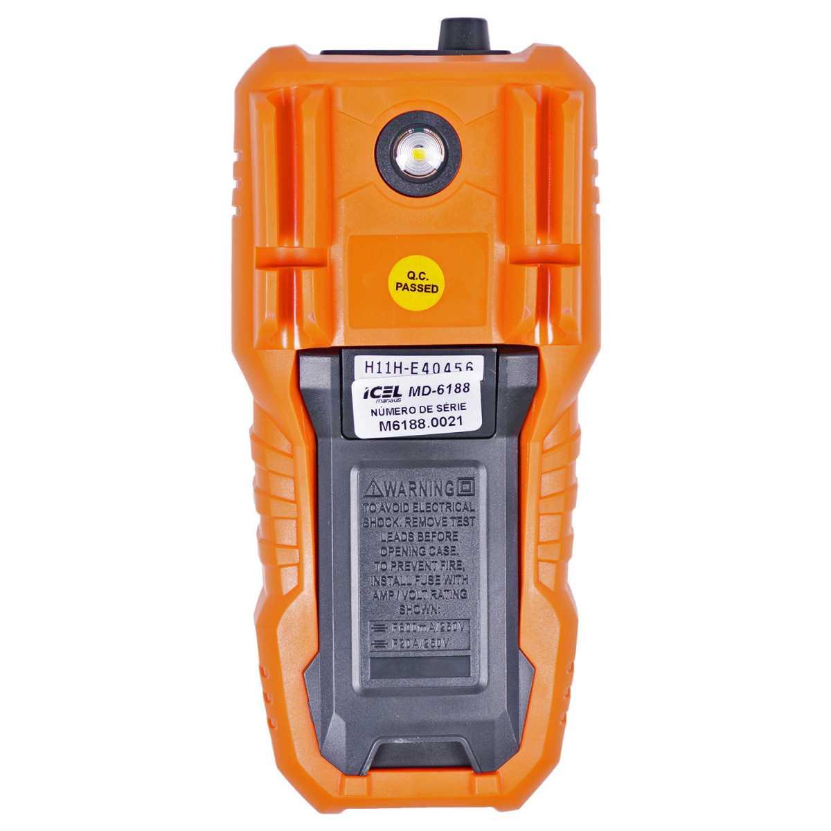 Multímetro Digital Ac/dc 20A True Rms Md-6188 Icel