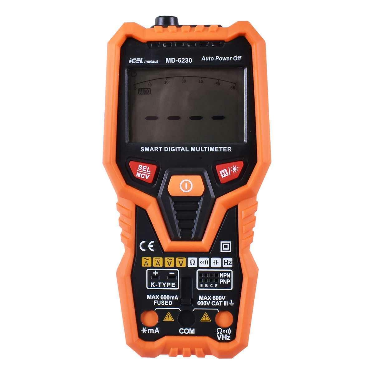 Multímetro Digital Ac/dc 600 Ma Smart Md-6230 Icel Manaus