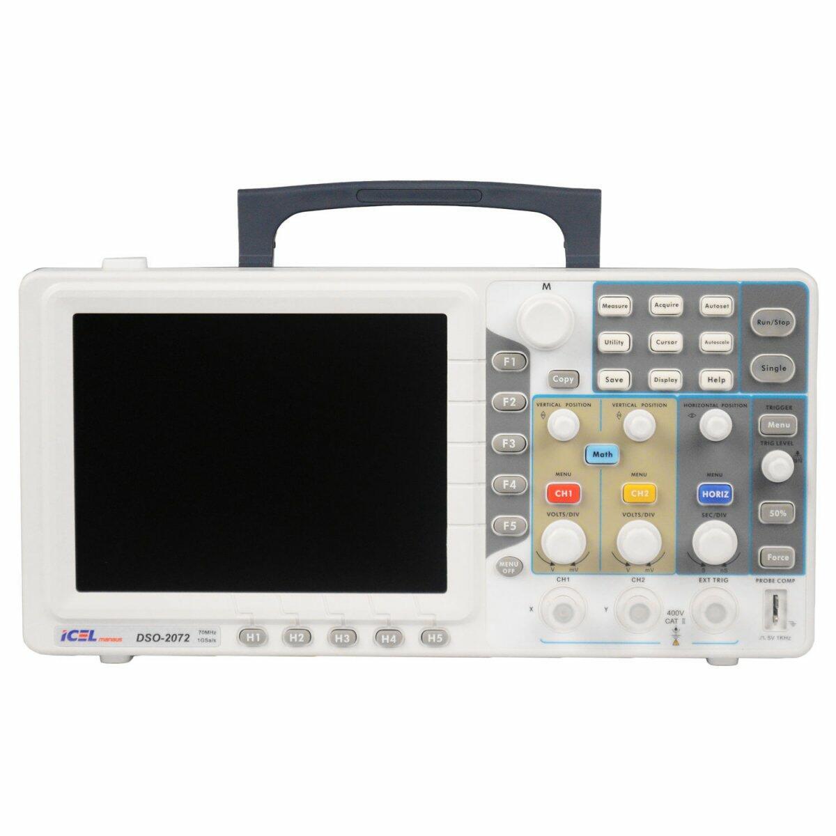 Osciloscópio Digital 70MHz Dso-2072 Icel - 120/240V