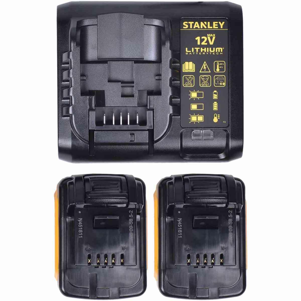 Parafusadeira 12V c/ 100 Peças SCD12S2KA-BR Stanley Bivolt