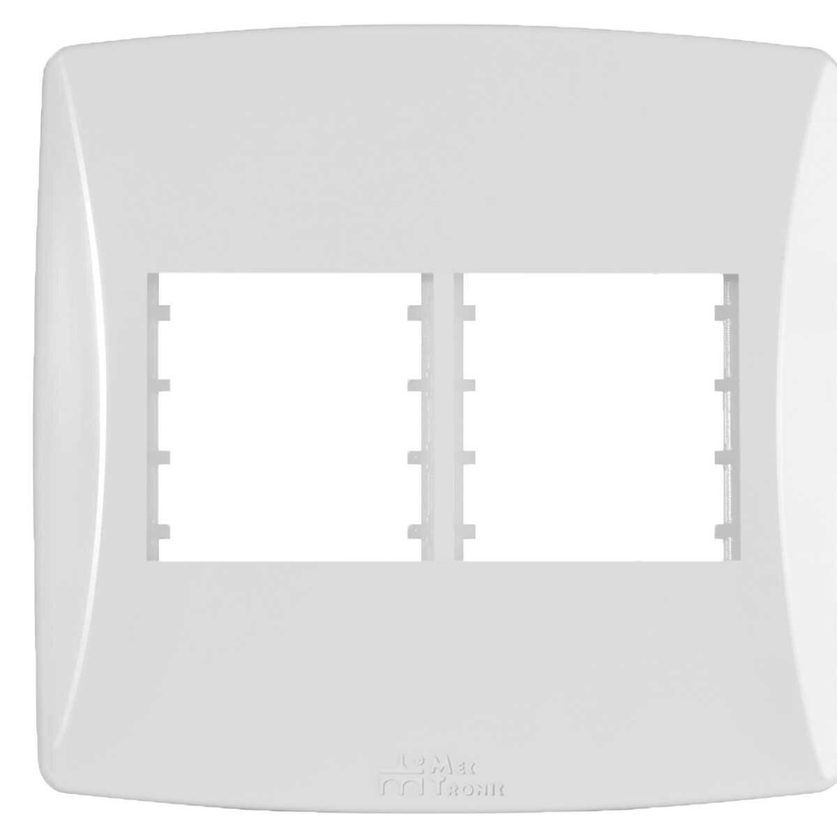 Placa 4X4 4 Postos Separado Horizontal Branco Petra