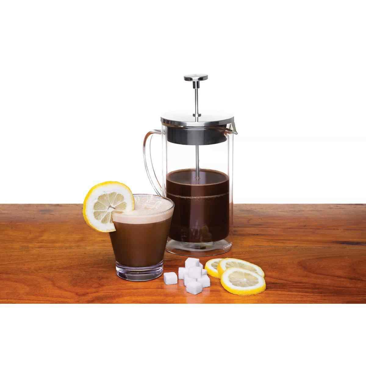 Prensa Francesa Tramontina para Café em Vidro Duplo e Aço Inox 8 cm 420 ml Tramontina 61766080