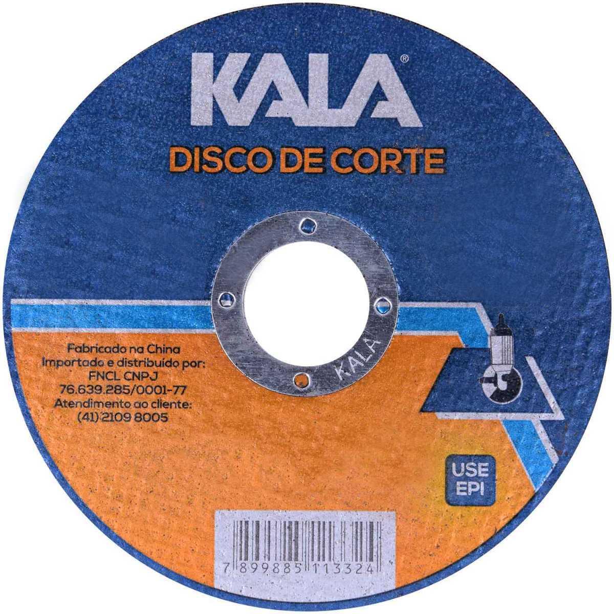 Disco de Corte Inox 115Mmx1Mmx22,23Mm Kala 100 Peças