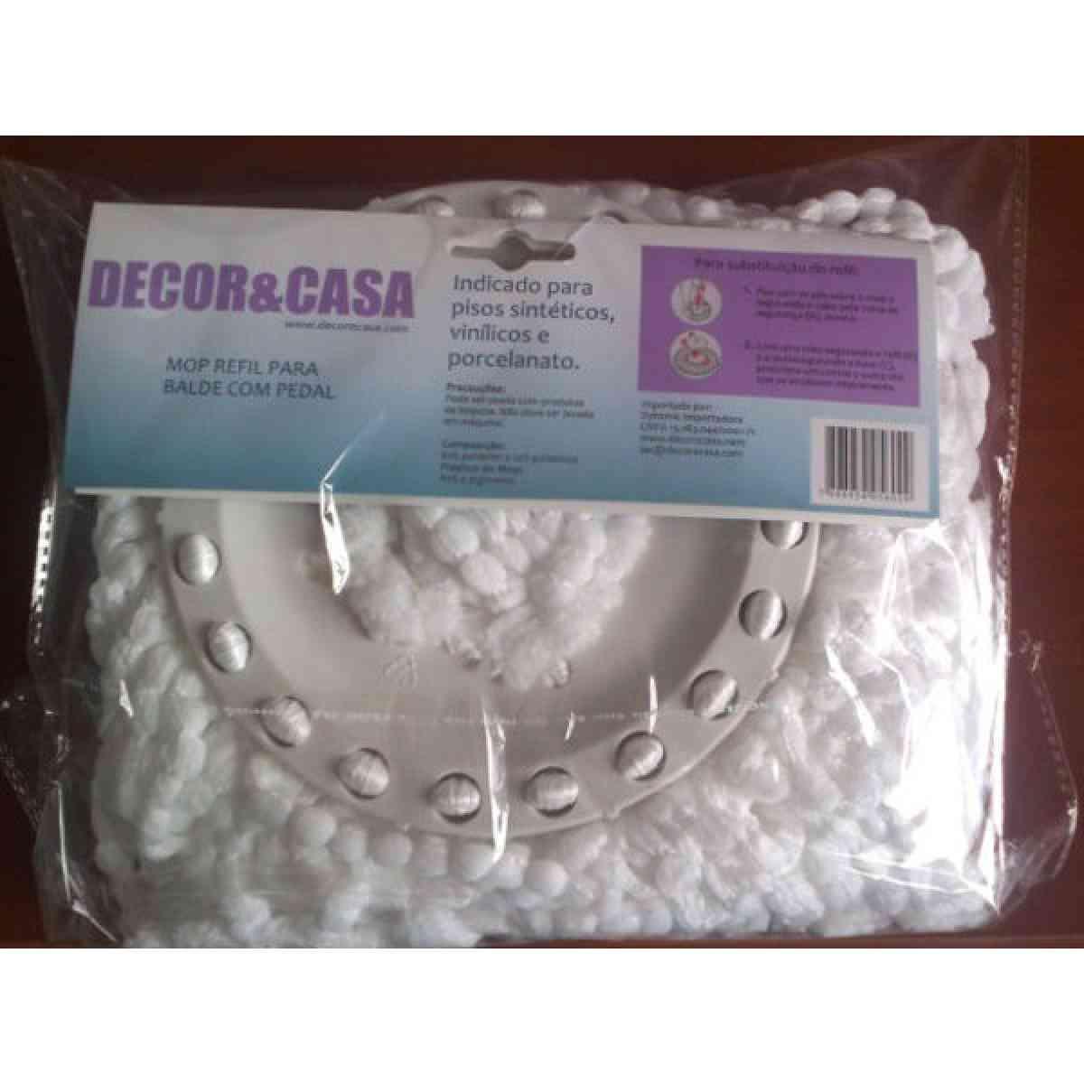 Refil Mop Para o Kit Super Mop em Microfibra DECOR&CASA