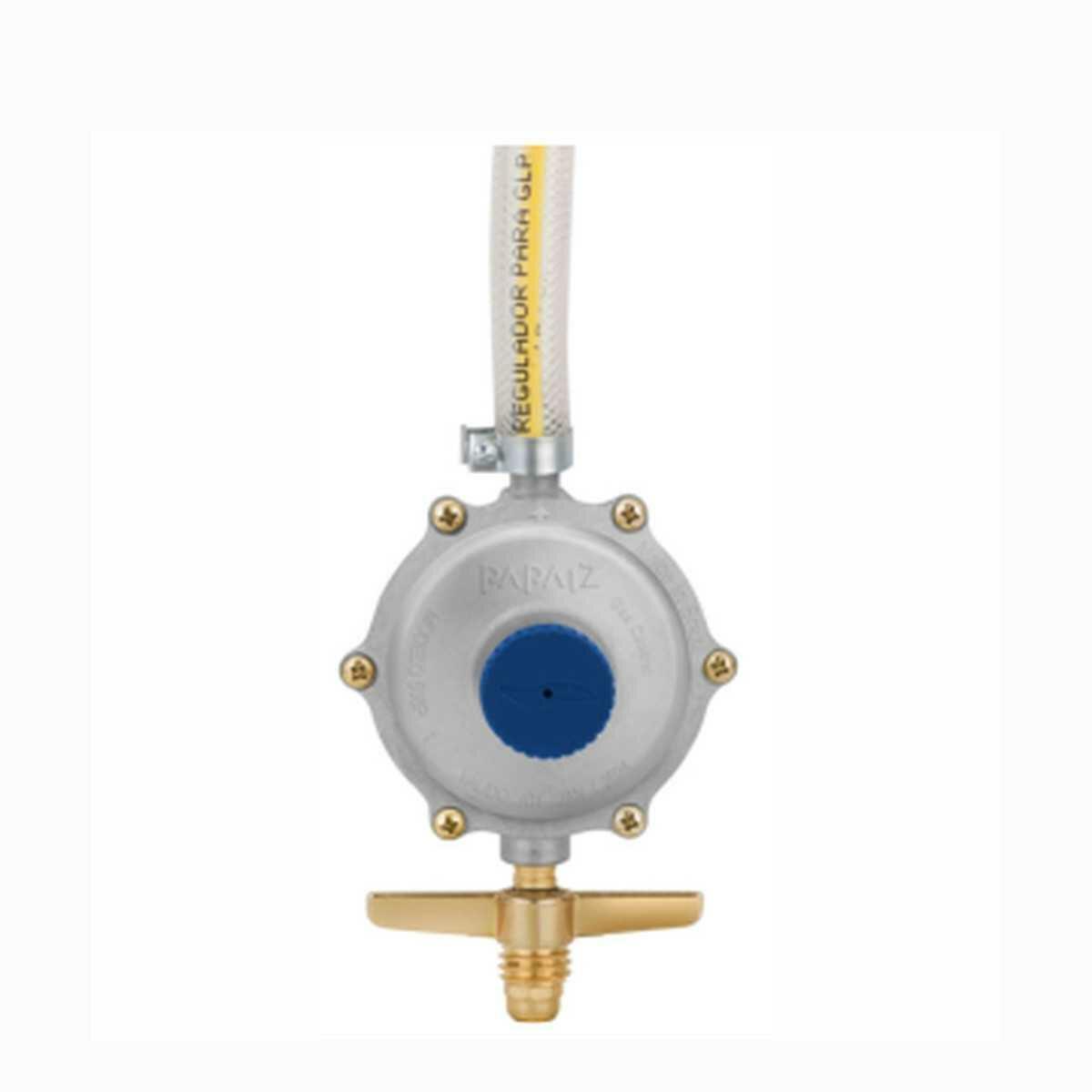 Regulador Gás 906 Parafusado com Mangueira 80Cm Papaiz