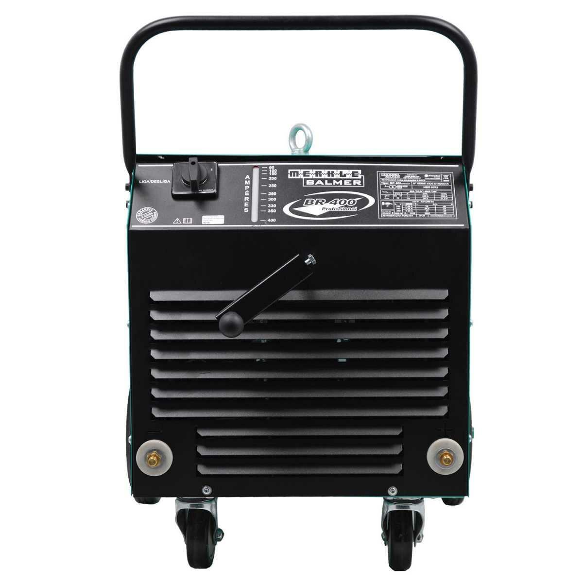 Retificador de Solda 400A Eletrodo Br400 Profissional Balmer - 220/380/440V