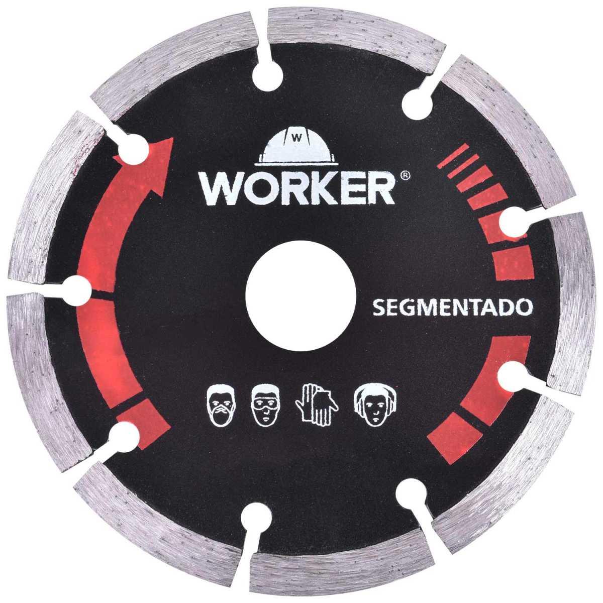Serra Mármore 1300W Worker com 3 Discos Diamantados 110X20Mm - 127V