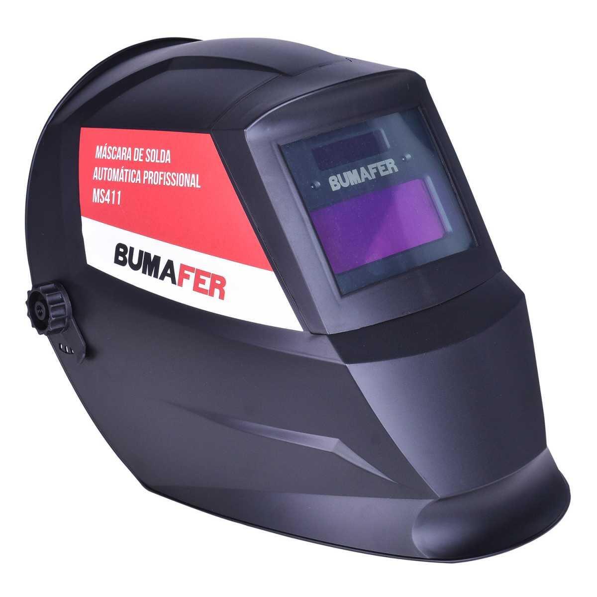 Solda Inversora Mig 200A Sm-B200 com Máscara de Solda Automática Ms411 Bumafer