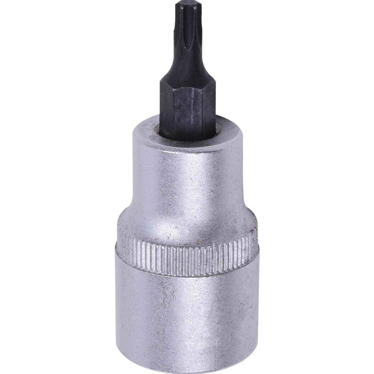 Soquete Hexalobular T 25 Curto Macho Enc. 1/2 060985 Robust