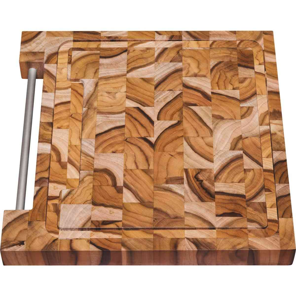 Tábua para Churrasco Tramontina Quadrada em Madeira Invertida Teca com Acabamento Envernizado 30 x 30 cm Tramontina 10100050