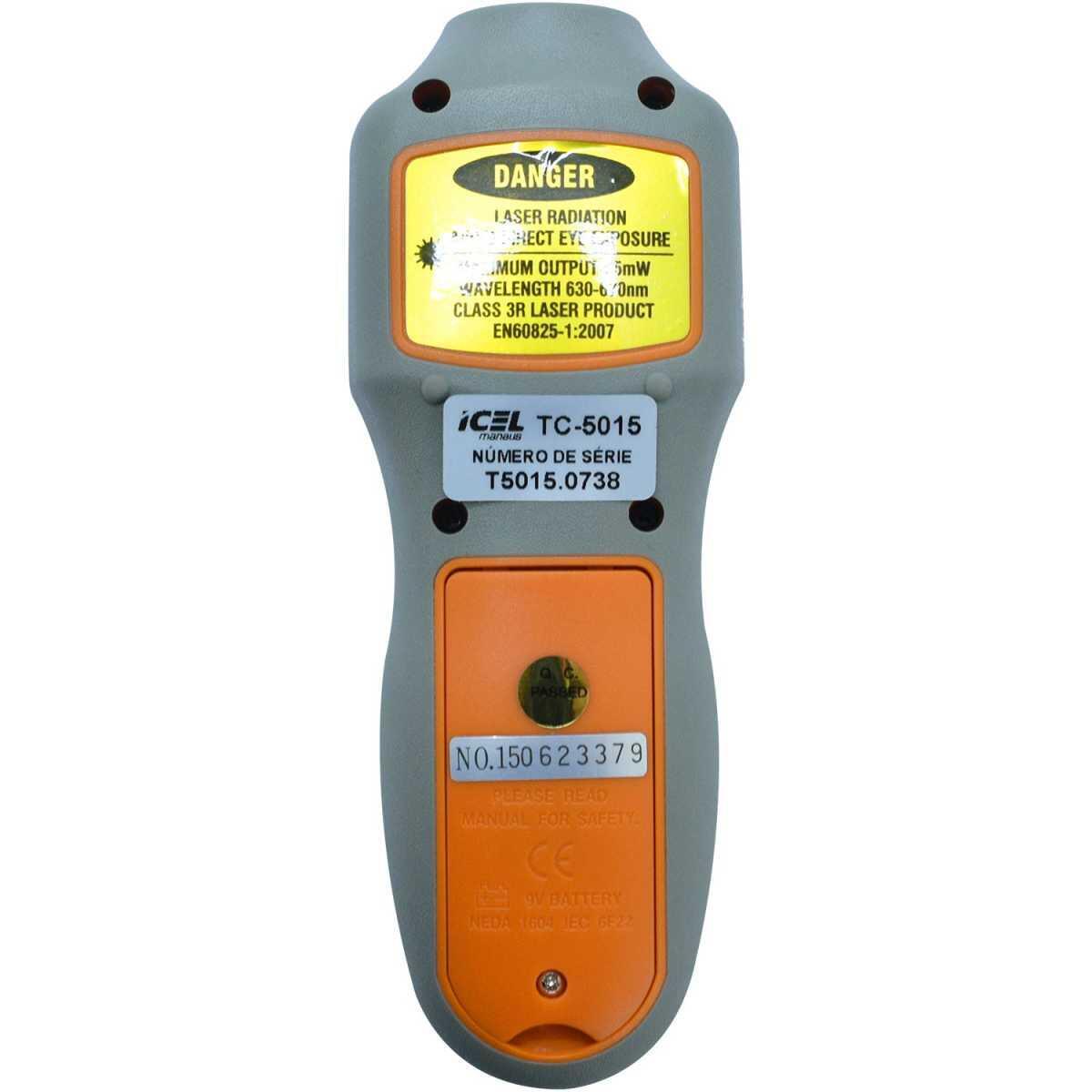 Tacômetro Ótico 2 a 99.999Rpm Tc5015 Icel