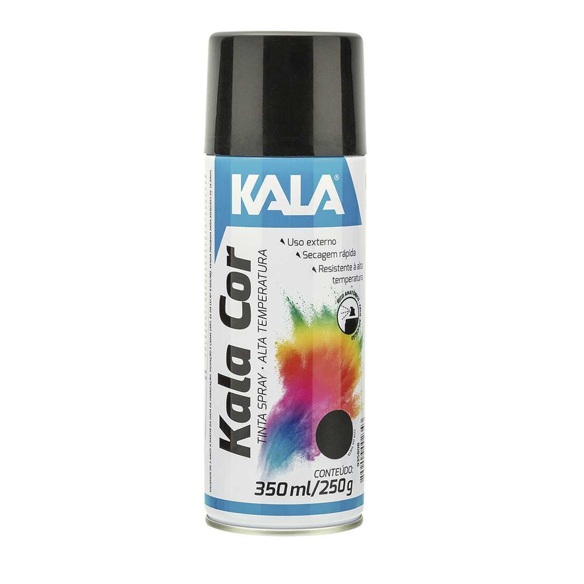 Tinta Spray Alta Kala Alta Temperatura Preto Fosco 350Ml