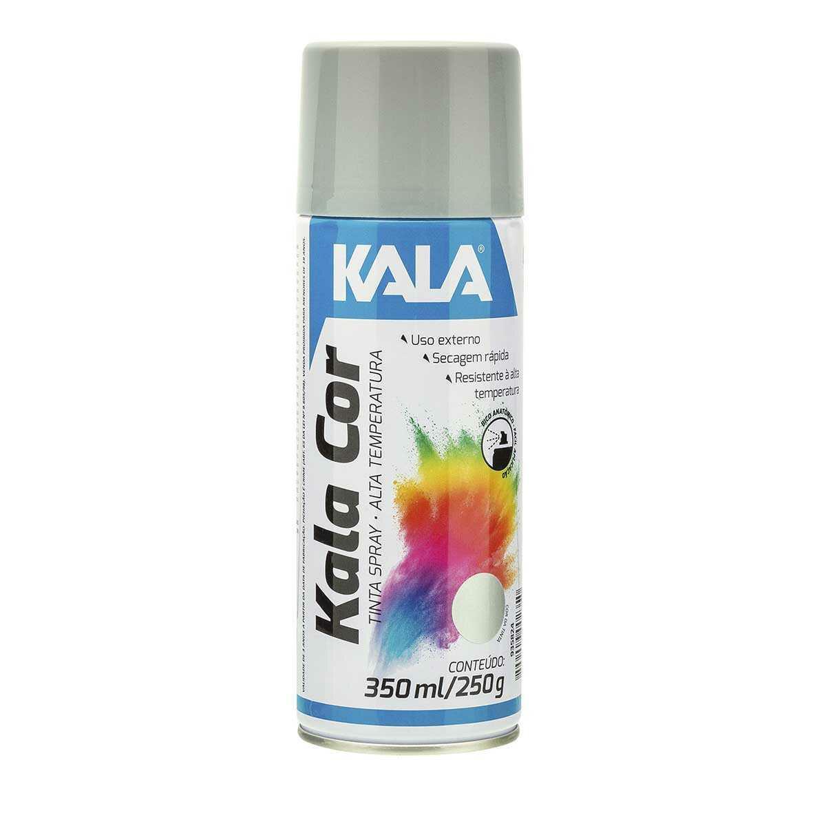 Tinta Spray Kala Alta Temperatura Alumínio 350Ml