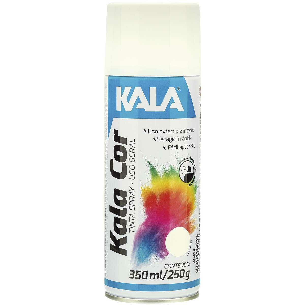 Tinta Spray uso Geral Kala Branco Brilho 350Ml