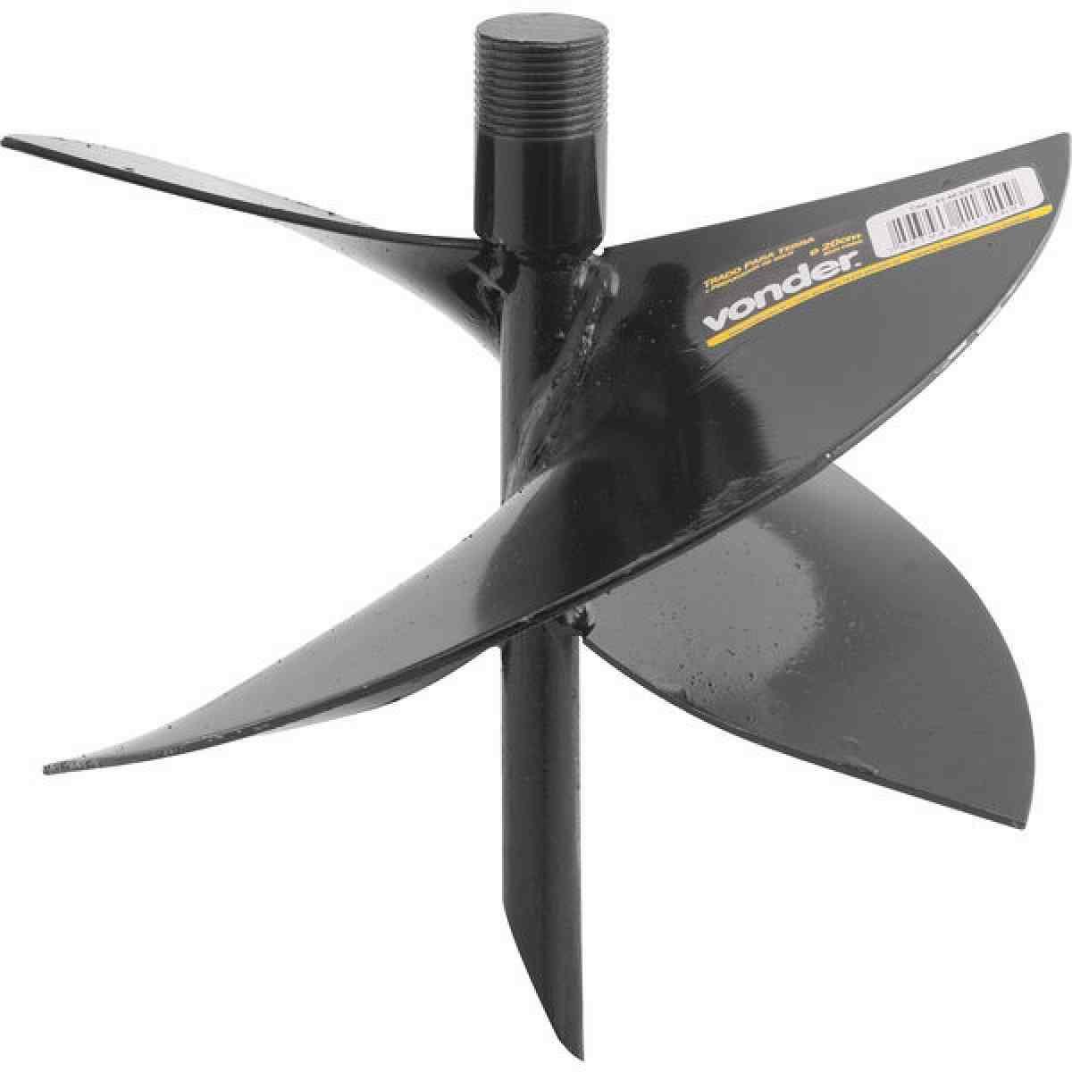 Trado/perfurador para terra 20 cm, sem cabo, VONDER