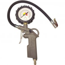 Calibrador Inflador De Pneu 220 Lbs Manual Com Relógio Bremen
