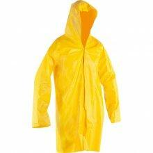 Capa para chuva de PVC, com forro, G, amarela, NOVE54