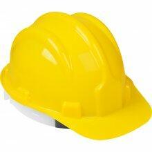 Capacete de Proteção Amarelo Com Carneira Worker
