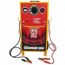 Carregador De Bateria Automotivo 50 Amperes V8Brasil Bivolt