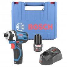 """Chave De Impacto 1/4"""" 2 Baterias 12V GDR12-LI Bosch - 127V"""
