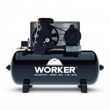 Compressor Ar 10pcm Mono 140psi 100 Litros Bivolt Worker
