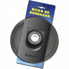 """DISCO BORRACHA D'LUCCA BORRACHAS 7"""" FURO 5/8"""""""