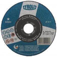 """DISCO CORTE AÇO TYROLIT 9""""X1/8X7/8 BASIC"""