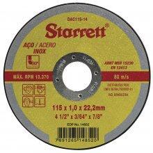 """DISCO CORTE FINO STARRETT 4.1/2""""X1 22,22MM"""