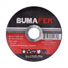 "Disco de Corte Fino Inox 4.1/2"" 1 mm x 7/8"" Bumafer"