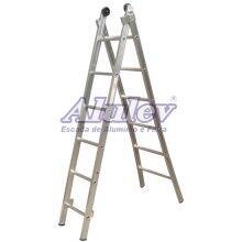 Escada De Alumínio 3 Em 1 Com 2 Lances De 13 Degraus Máx 7,20M ED113 Alulev