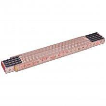 Escala métrica de madeira com 2 m, 10 dobras, mm, 59210, HUL