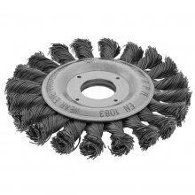 "Escova Circular Torcida 4.1/2"" X M14 Inox Worker"