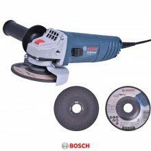 """Esmerilhadeira Angular 4 1/2"""" 850W Gws 850 + Discos Bosch"""