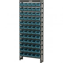 Estante metálica com gavetas, modelo prático 60/3, cor azul,