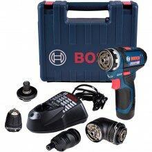 """Furadeira Parafusadeira 3/8"""" 4 em 1 Bateria GSR12V-15FC Bosch"""