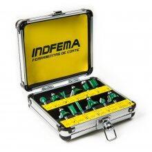 Kit De 12 Fresas Hw Para Tupia 6mm Com Maleta Indfema 6410.01