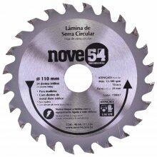 Lamina De Serra Circular 24D 110x20Mm Para Madeira Nove54