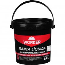 Manta Líquida Asfáltica Para Impermeabilização 3,6l Worker