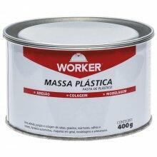 Massa Plástica Preta 400g Worker