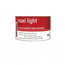 MASSA POLIÉSTER MAXI LIGHT 900GR MAXI RUBBER