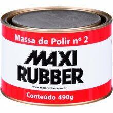 MASSA POLIR NR 2 MAXI RUBBER 490GR
