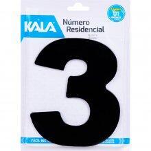 Número Residencial N°3 Preto 18,5Cm Kala