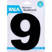 Número Residencial N°9 Preto 18,5Cm Kala