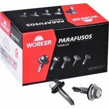 """Parafuso Ponta Broca Cabeça Sext 6,3mm(N14)X3/4"""" Worker 300 Peças"""
